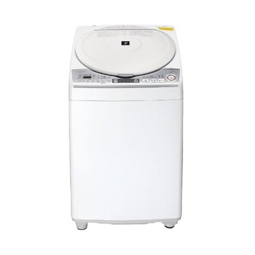 【無料長期保証】シャープ ES-TX8D-W 縦型洗濯乾燥機 ホワイト系(洗濯8kg、乾燥4.5kg)