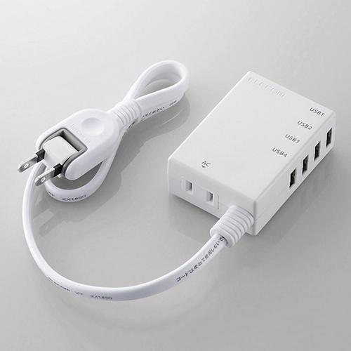 エレコム MOT-U06-2144WH 販売期間 爆売りセール開催中 限定のお得なタイムセール モバイルUSBタップ ホワイト コード付