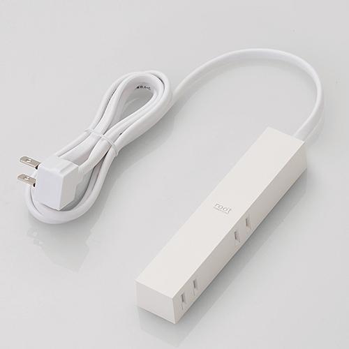 エレコム AVT-D3-2415WH デザインタップ roo't 最新号掲載アイテム 安い 1.5m ホワイト 4個口 2ピン
