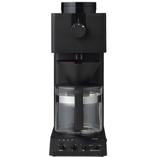 ツインバード CM-D465B 全自動コーヒーメーカー ブラック (6カップ抽出可能)
