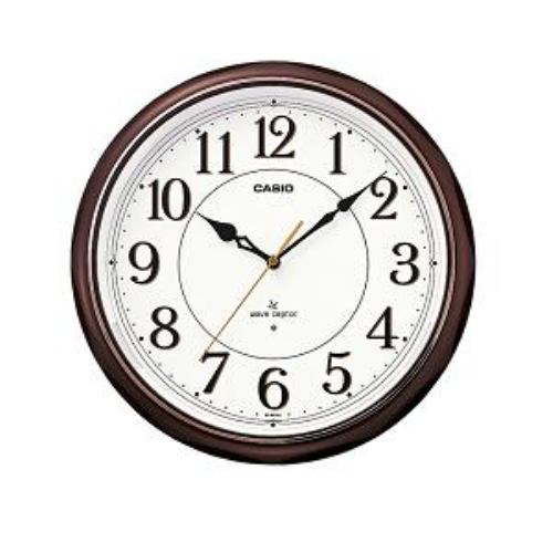カシオ IQ-1051NJ-5JF 電波時計 発売モデル 壁掛け時計 アナログタイプ お洒落