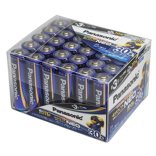 パナソニック LR6NJ30SH 中古 国内送料無料 アルカリ乾電池 単3×30本 エボルタネオ