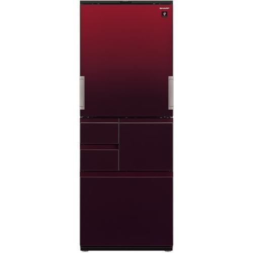 【無料長期保証】シャープ SJ-AW50G-R 5ドアプラズマクラスター冷蔵庫 (502L・どっちもドア) グラデーションレッド