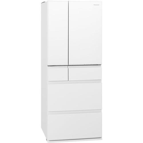 【無料長期保証】パナソニック NR-F486MEX-W 6ドアパーシャル搭載冷蔵庫(483L・フレンチドア) エコナビ ナノイーX搭載 セラミックホワイト