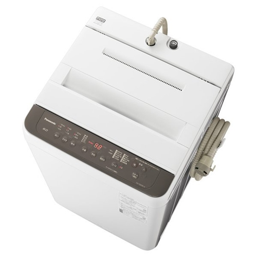 パナソニック NA-F60PB14-T 全自動洗濯機 洗濯6kg 期間限定で特別価格 ニュアンスブラウン 配送員設置送料無料