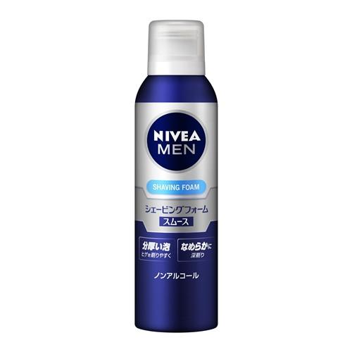 花王 Kao ニベアフォーメン ラッピング無料 国産品 NIVEA FOR MEN スムース シェービングフォーム 195g