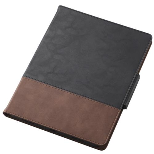 エレコム TB-A20MPLFDTNBK iPad ◆在庫限り◆ 35%OFF 2020 秋モデル フリーアングル ブラック レザーケース ツートンカラー 手帳型