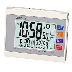 カシオ DQL-210J-7JF 置時計 店内全品対象 目覚まし電波時計 ホワイト おトク