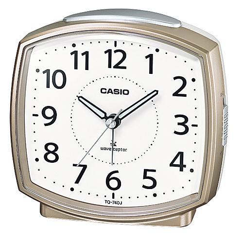 毎日がバーゲンセール カシオ TQ-740J-9JF 電波目覚し時計 スヌーズ ライト付 実物 アナログ表記