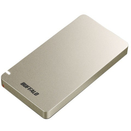 BUFFALO SSD-PGM500U3-GC ☆最安値に挑戦 外付けSSD 金色 500GB ご注文で当日配送