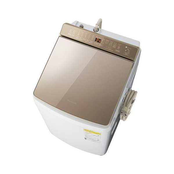 【無料長期保証】パナソニック NA-FW90K7-T 縦型洗濯乾燥機 洗濯9kg 乾燥4.5kg 泡洗浄 ブラウン