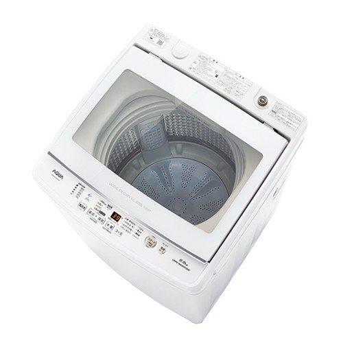 【無料長期保証】AQUA AQW-GV90H(W) 全自動洗濯機 簡易乾燥機能付 (洗濯9.0kg)