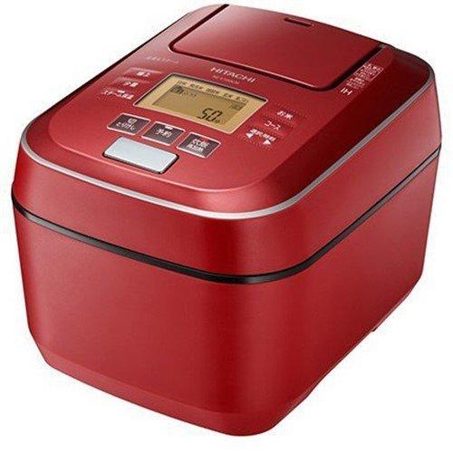 【ポイント10倍!】日立 RZ-V100CM R 圧力&スチームIHジャー炊飯器 ふっくら御膳 5.5合炊き メタリックレッド