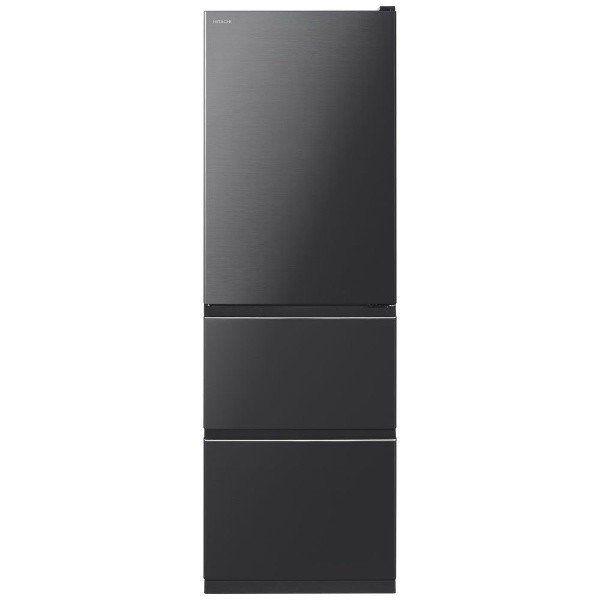 【無料長期保証】日立 R-V38KV-K 3ドア冷蔵庫 (375L・右開き) ブリリアントブラック