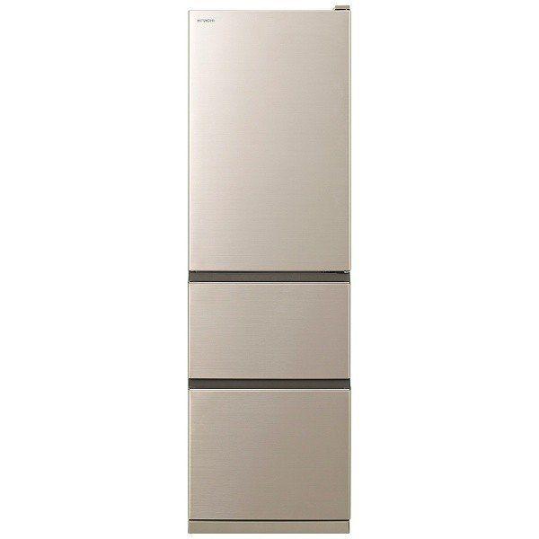 【無料長期保証】日立 R-V32KV-N 3ドア冷蔵庫 (315L・右開き) シャンパン
