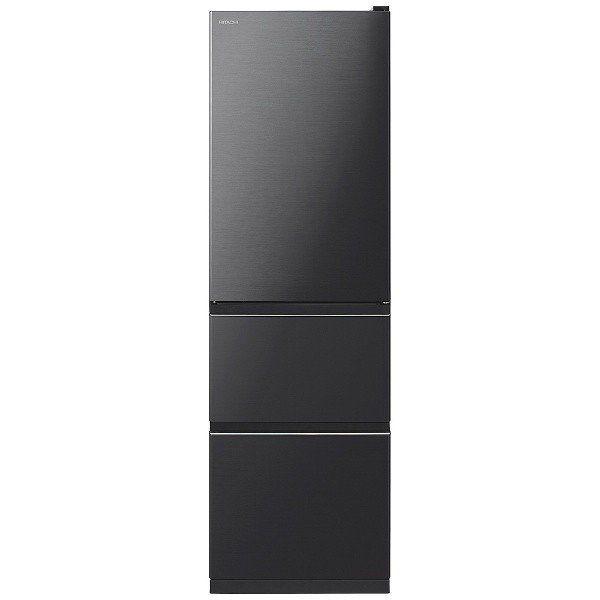 【無料長期保証】日立 R-V32KV-K 3ドア冷蔵庫 (315L・右開き) ブリリアントブラック