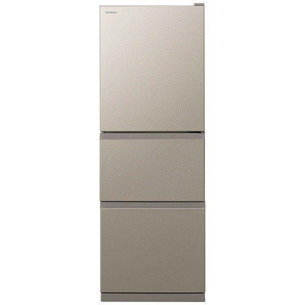 【無料長期保証】日立 R-27KV-T 3ドア冷蔵庫 (265L・右開き) ライトブラウン