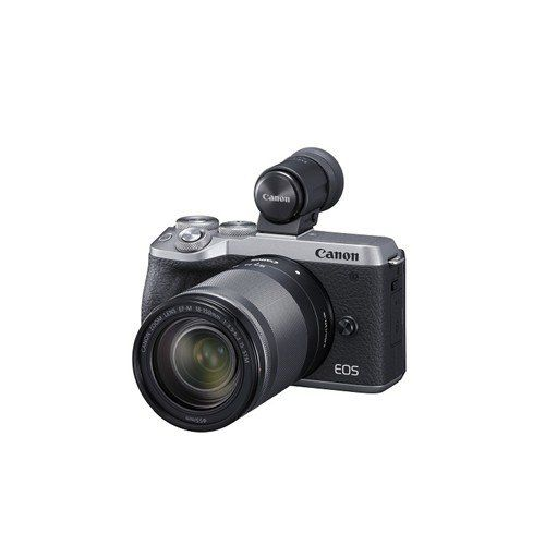 キヤノン EOSM6MK2EVF LLKSL ミラーレスカメラ EOS M6 Mark II (シルバー)・EF-M18-150 IS STM レンズEVFキット