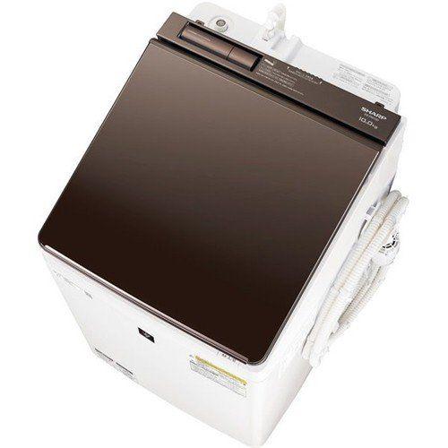 【無料長期保証】シャープ ES-PW10D-T 縦型洗濯乾燥機 (洗濯10.0kg/乾燥5.0kg) ブラウン系