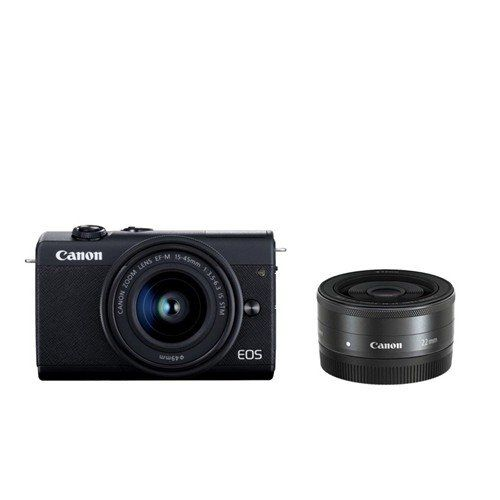 キヤノン EOSM200 WLKBK ミラーレスカメラ ダブルレンズキット EOS M200 黒