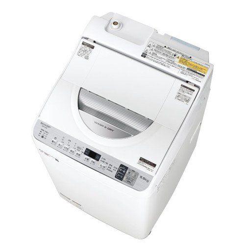 【無料長期保証】シャープ ES-TX5D-S タテ型洗濯乾燥機 (洗濯5.5kg・乾燥3.5kg) シルバー系
