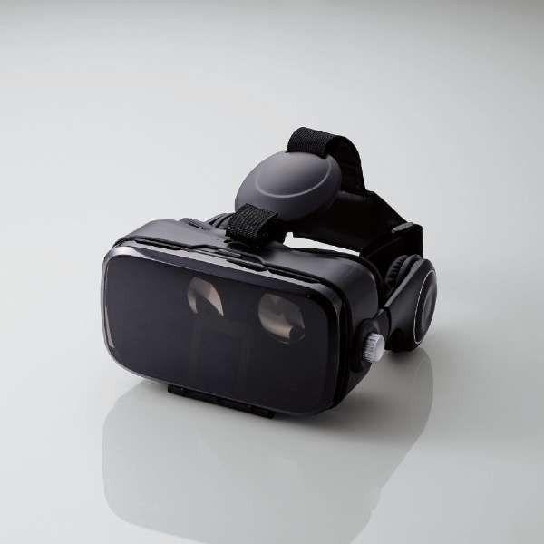 エレコム VRG-DEH01BK ヘッドホンVRゴーグル (DMMスターターセット) ブラック