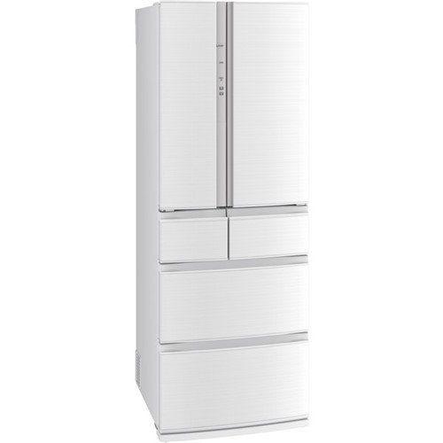 【無料長期保証】三菱電機 MR-R46E-W 6ドア冷蔵庫 (462L・フレンチドア) クロスホワイト