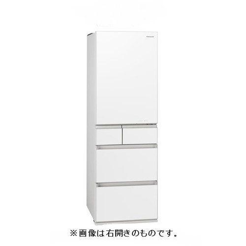 【無料長期保証】パナソニック NR-E455PXL-W パーシャル搭載 5ドア冷蔵庫 (450L・左開き) エコナビ/ナノイー搭載 スノーホワイト
