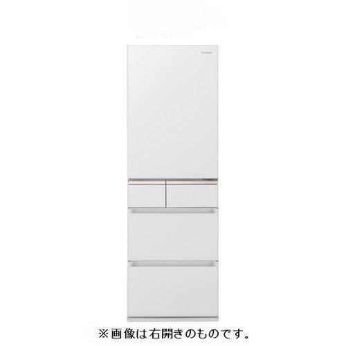 【無料長期保証】パナソニック NR-E415PVL-W 微凍結パーシャル搭載 5ドア冷蔵庫 (406L・左開き) スノーホワイト