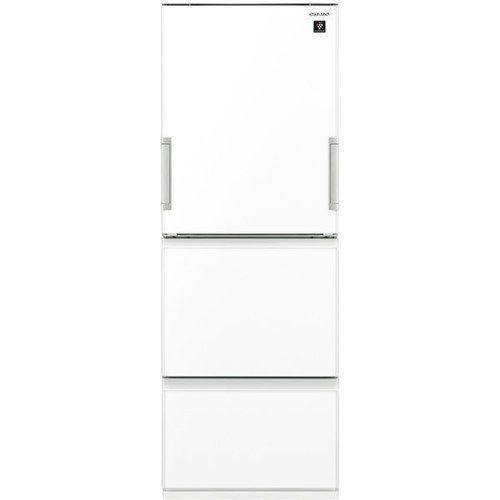 【無料長期保証】シャープ SJ-GW35F-W プラズマクラスター 3ドア冷蔵庫 (350L・どっちもドア) ピュアホワイト