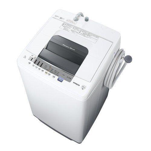日立 NW-70E W タテ型全自動洗濯機 (洗濯・脱水7kg) ピュアホワイト