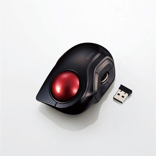 マウス エレコム 無線 ワイヤレス M-MT2DRSBK ワイヤレスモバイルトラックボール(人差し指操作タイプ)