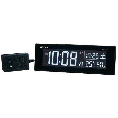 セイコークロック DL305K 販売 2020新作 電波目覚まし時計 黒塗装 SEIKO