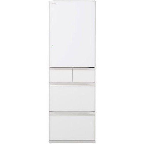 【無料長期保証】日立 R-HWS47K XW 5ドア冷蔵庫 (470L・右開き) クリスタルホワイト