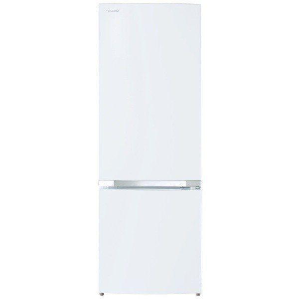 東芝 GR-R17BS-W 2ドア冷蔵庫 (170L・右開き) セミマットホワイト