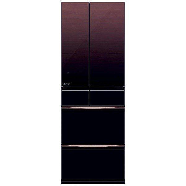 三菱 MR-MX50F-ZT 6ドア冷蔵庫 (503L・フレンチドア)MXシリーズ グラデーションブラウン