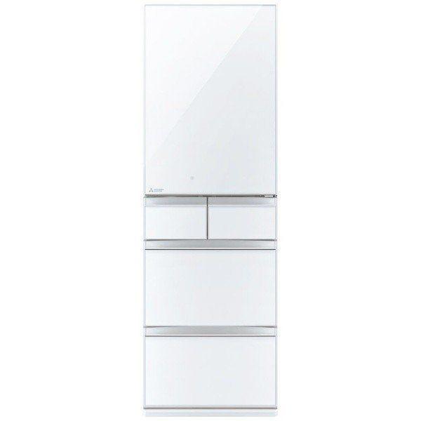 三菱 MR-MB45FL-W 5ドア冷蔵庫 (451L・左開き)MBシリーズ クリスタルピュアホワイト