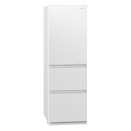【無料長期保証】パナソニック NR-C371GN-W 3ドア冷蔵庫 365L 右開き ガラスドア スノーホワイト