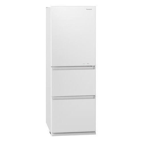 【無料長期保証】パナソニック NR-C341GC-W 3ドア冷蔵庫 335L 右開き ガラスドア スノーホワイト