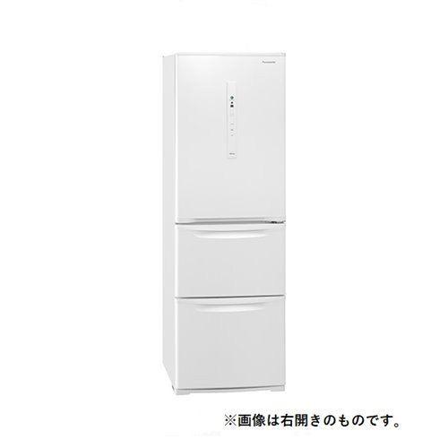 【無料長期保証】パナソニック NR-C371NL-W 3ドア冷蔵庫 365L 左開き 鋼板ドア ピュアホワイト