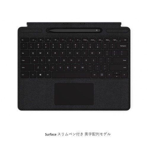 Microsoft QSW-00021 Surface Pro X タイプカバー Surface Pro X Signature キーボード スリム ペン付き(英字配列) ブラック