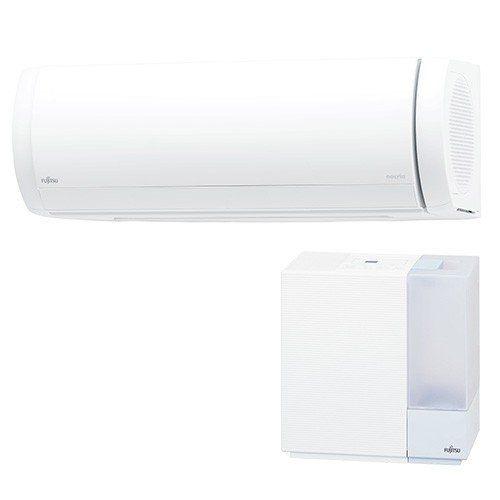 【無料長期保証】【標準工事代込】富士通ゼネラル AS-XW90K2W エアコン 「ノクリア XWシリーズ」 加湿器セットモデル 200V (29畳用) ホワイト
