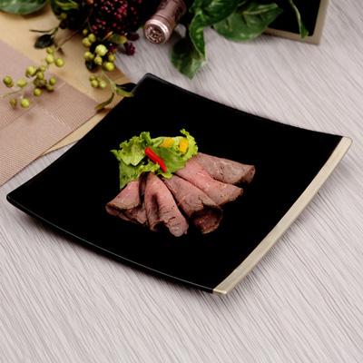 【 宮内庁御用達 】 漆器 菱鉢 縁錫 (和食器 大皿 和モダン シンプル)