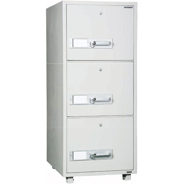 耐火キャビネット。A4サイズA4-3 内容量200kgダイヤセーフ 耐火金庫 金庫