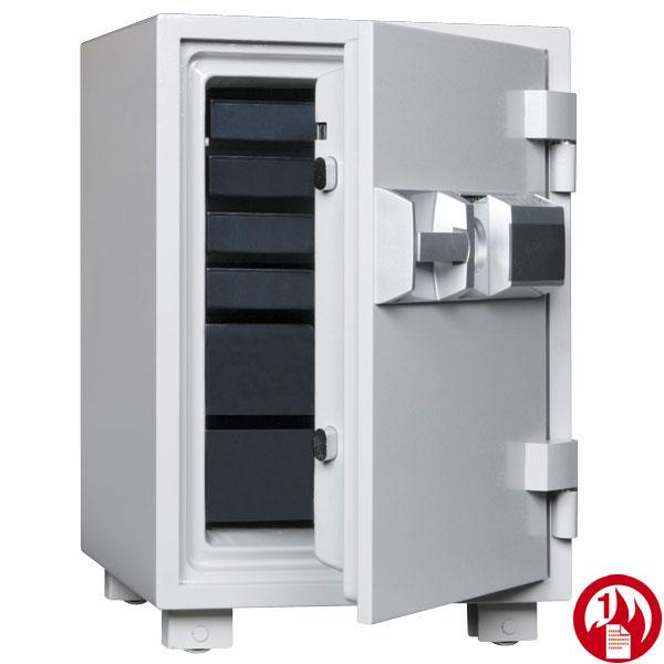 家庭用耐火金庫。プッシュタイプ。押入れにスッポリ入る大型家庭用耐火金庫。1時間耐火試験合格。MEK68-6 内容量49リットルダイヤセーフ 耐火金庫 金庫