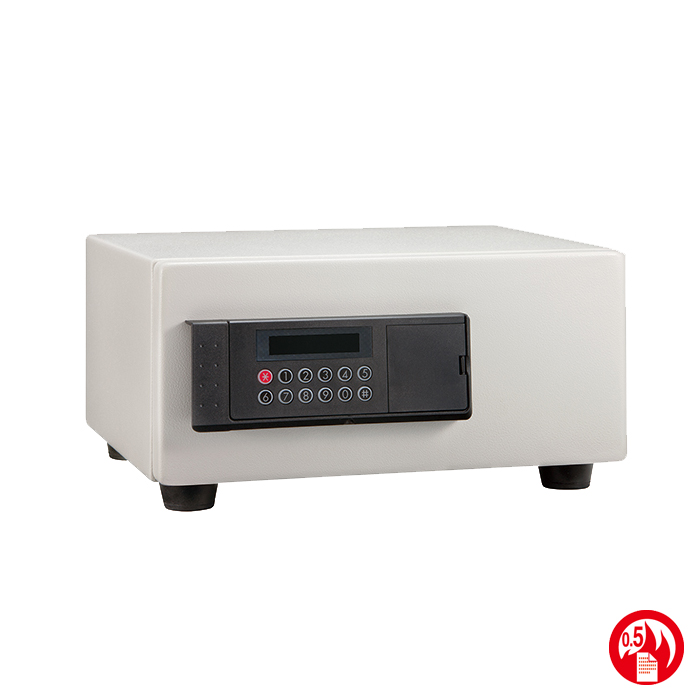 エーコー 耐火金庫 金庫ホテルセーフ LCD搭載テンキーロック式 耐火金庫 HES-2MD