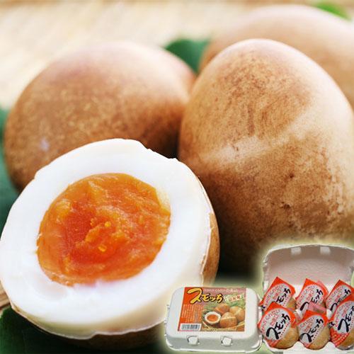 【天童市:半澤鶏卵】半熟くんせい卵スモッち6個入り<BR><ご自宅用モールド入>【クール便】贈り物に 冬ギフト プレゼント