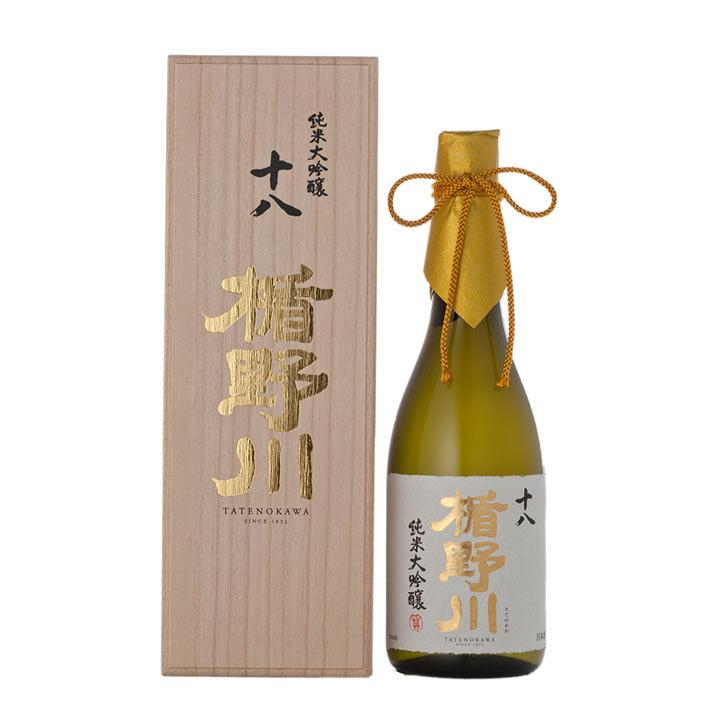楯野川 純米大吟醸 十八 720ml 桐箱入り 日本酒 山形 地酒 お中元 夏ギフト プレゼント