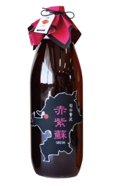 【博多豪商】【旬の贅沢】赤紫蘇(しそ)ジュース1000mlx12本