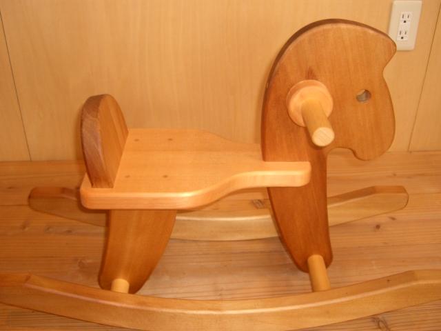 【送料無料】重田木型の手造りおもちゃ『かわいい木馬』